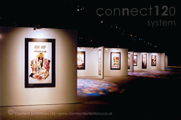 Movable Walling, Movable Walls, Movable Wall in an exhibition marque opposite 'The Royal Albert Hall' in London, the panels created a temporary exhibition space for a film company event. (photographic prints)