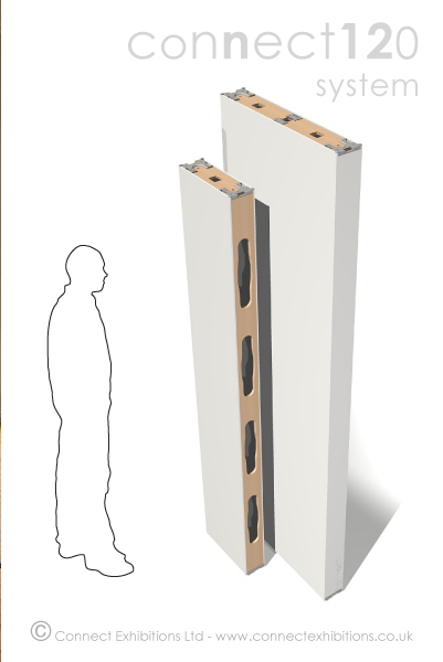 Room Divider (2184mm, 2438mm) heights image, showing two divider heights compared to a standing figure. Used by: (Curators, Artists, Photographers, Art Designers, Architects)